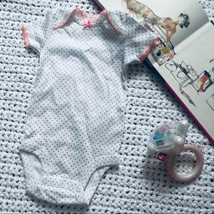Simple Joys | NWOT White & Silver Dotted Onesie